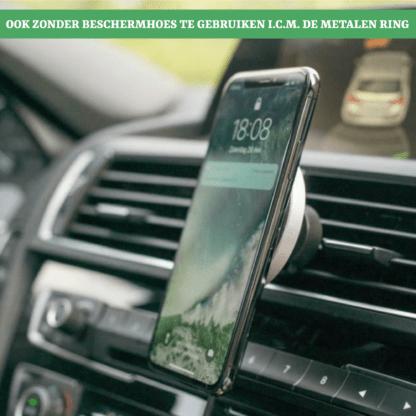 iSetchi Draadloze Autolader - Telefoonhouder Auto Met Draadloos Opladen - Qi Oplader (Snellader Zilver) - Draadloze Telefoon Houder Auto Oplader - iPhone - Samsung - Ventilatierooster - Wireless Fast Charger