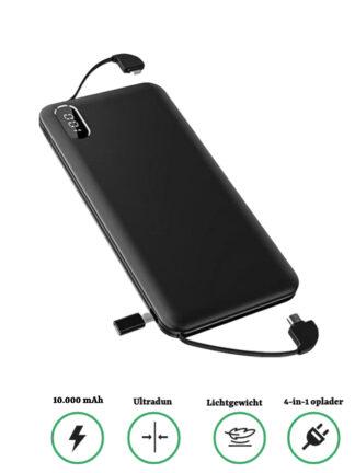 iSetchi Powerbank 10.000 mah iPhone Samsung Lightning Micro USB USB C USB