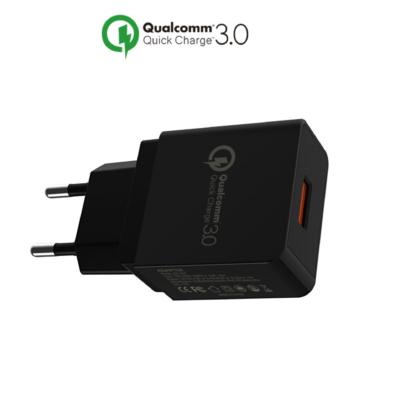 iSetchi 18W USB Adapter Stekker Snel Lader - Quick Charge 3.0 - Geschikt voor Apple - iPhone - Lightning - USB-C - Micro USB Samsung - Telefoon - Huawei - Tablet - iPad - iWatch - Oplader - Thuislader - Zwart