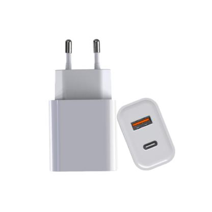 iSetchi PD (power delivery) 20W USB-C + USB-A Oplader - iPhone 12 Adapter – PD 20W + Quick Charge 3.0 Poort - Oplader geschikt voor Apple - Lighting - Samsung – Android – Telefoon – Tablet - Stekker met Snelladen (38W totaal vermogen)