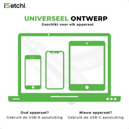 iSetchi® Auto Oplader USB-C 20W + USB-A 18W – Telefoon lader auto – Snelladen – Sigarettenaansteker aansluiting